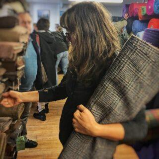 Tweed shopping in Tarbert, Isle of Harris, back in October...#harristweedisleofharris #harristweedisleofharrisshop #isleofharrisandlewis #isleofharris #outerhebrides #outerhebridesofscotland #westernisles #westernislesofscotland #tweedfabric #harristweedfabric #harristweed #fabric #fabriclovers #fabriclove #harristweedauthority #fabricshopping